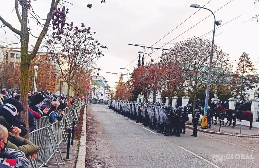 large protest November baumann edd