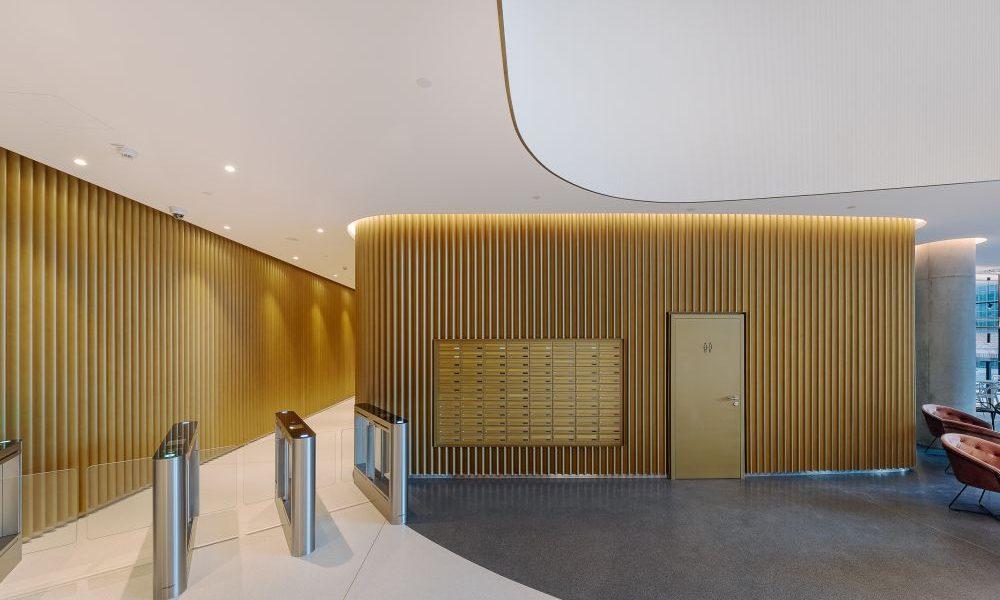 Spoločnosť Penta Real Estate skolaudovala kancelársku budovu Sky Park Offices, ktorá je súčasťou bratislavského projektu Sky Park by Zaha Hadid. Zdroj: SITA/Spoločnosť Penta Real Estate