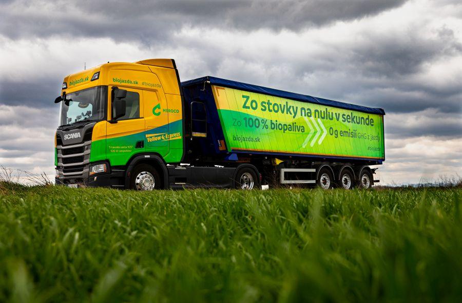 biojazda kamion